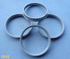 (1042) 4 Stück  Zentrierringe  60,0 / 56,6 mm grau für Alufelgen