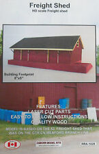 FREIGHT SHED HO-SCALE LASER CUT KIT BY OSBORN MODEL KITS - EASY & FUN BUILD!