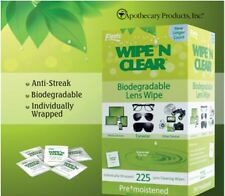 225 pc-Wipe 'n Clear Biodegradable Lens Wipe For Media Devices, Eyewear,& others