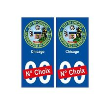 Chicago ville sticker numéro au choix autocollant blason USA city arrondis