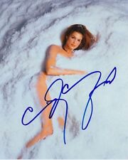 CINDY CRAWFORD signed autographed SEXY NUDE SNOWFALL photo