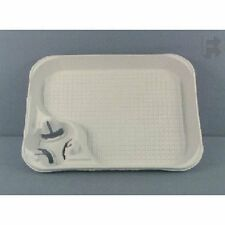 Pack of 50 Molded Fiber Food Tray 15 x 11 with Cup Carrier / Holder, KF Focus