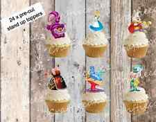Alice in Wonderland 24 Pre Cut Stand Up Cup cake Wafer Paper Toppers