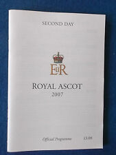 Royal Ascot Programme / Racecard - 2007 - Second Day