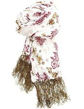 VINTAGE EDITION H&M FLORAL SCARF womens white & pink flower pashmina wrap ladies
