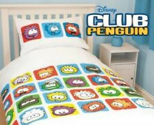 Official Disney Club Penguin Single Quilt Cover Set Fully Reversible
