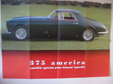 POSTER AUTOPLUS FERRARI    375 AMERICA AGNELLI   GT COLLECTION