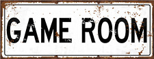 Game Room Metal  Street Sign, Pool, Darts, Poker, Gaming, Billiards, Mancave