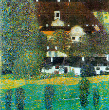 Castle Chamber at Attersee II by Gustav Klimt 40cm x 40cm Canvas Print