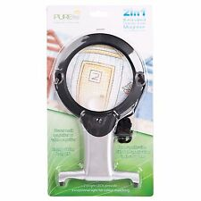 Two In One Illuminated Hands Free Magnifier LED Craft Tools Equipment Materials