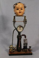 """STEAMPUNK Sculpture , Hand Made """"Brain Recovery Inspired by Nikolas Tesla"""""""