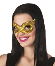 Deluxe Fancy Dress Adult Ladies Eye Mask With Sequin Designs Halloween Party
