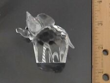 """Beautiful Swarovski Crystal Small Elephant, Frosted Tail, Almost 2"""" Tall, No Box"""