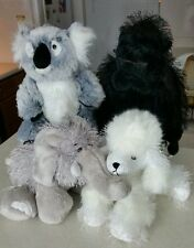 Ganz Webkinz lot of 4 Stuffed Plush No Codes Koala Poodle Elephant Gorilla Euc
