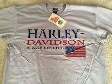 "Harley Davidson American Flag ""Way of Life"" Shirt Nwt Men's XL"