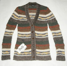 D&G DOLCE&GABBANA multicolor knit cardigan sweater jumper pull maglione donna 40