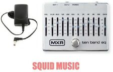 MXR Dunlop Ten Band Graphic EQ Pedal M108S M-108S 10 Band(POWER SUPPLY ADAPTER )