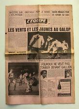 Journal l'Equipe n°10113 - 1978 - Foot Les Verts et les Jaunes - Le Mans - Judo
