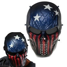 CS Game Skull Skeleton Full Face Mask Tactical Paintball Airsoft Protect Mask