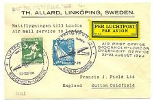 NETHERLANDS 1928 OLYMPICS  SFC TO STOCKHOLM -LONDON -  VF