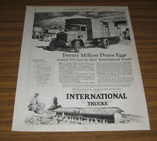 1927 Vintage Ad International Trucks Twenty Million Dozen Eggs Hauled Chicago,IL