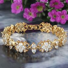 Gold Plated Austrian Crystal AAA Cut Bracelet Weddings, Party, Prom Ladies