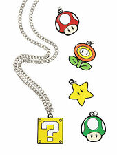 Nintendo SUPER MARIO BROS. INTERCHANGEABLE MULTI CHARM NECKLACE SET New