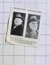 1928 Prominent Odd Fellows Mr W Brown Phoenix Lodge Mr J Luker
