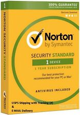 Lot of 10-Norton Security Standard 3.0 2016 - 1 Device