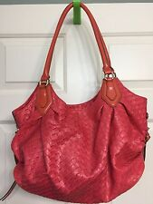 Simply Vera Large Coral Orange Satchel Hobo Bag Barely Used