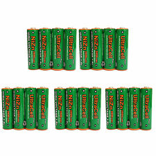 20 pcs 2800mWh AA NiZn 1.6V Volt Rechargeable Battery 2A LR06 Ultracell Green