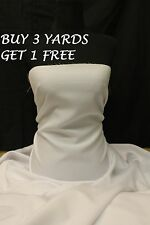 Plain White Polyester Bi-Stretch Suit Dress Uniform Crafts Fabric Material