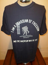 U.S MILITARY WOUNDED WARRIOR PROJECT T-SHIRT DARK BLUE SIZE LARGE