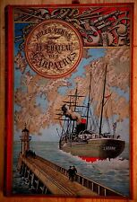 JULES VERNE-LE CHATEAU DES CARPATHES-CARTONNAGE AU STEAMER-EDITION ORIGINALE-