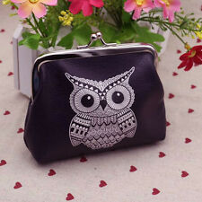 Fashion Womens Owl Small Wallet Card Holder Coin Purse Clutch Handbag Mini Bag B