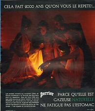 Publicité Advertising 1973  PERRIER eau gazeuse naturelle