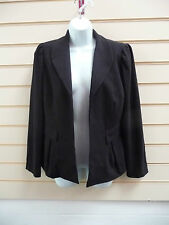 REDUCED WOMENS BLACK FORMAL / PARTY NON BUTTON LINED JACKET SIZE 12 BNWT