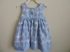 George Toddler Girls Dress Baja Blue Flowers Spring 24M Church Easter Party NWT