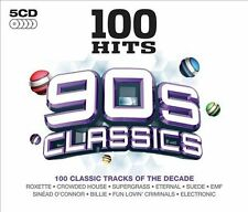 100 Hits: 90s Classics by Various Artists (CD, Apr-2013, 5 Discs, Demon Music...