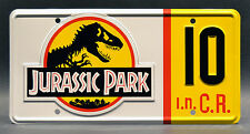 Jurassic Park / Jeep Wrangler Sahara / #10 *STAMPED* Replica Prop License Plate