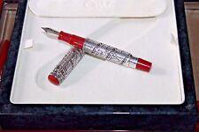 Limited Edition Omas Fountain Pen Sterling Silver 18 K Nib Jerusalem 3000