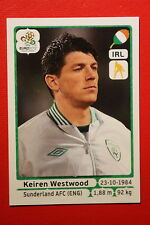 Panini EURO 2012 N. 346 IRELAND WESTWOOD NEW With BLACK BACK TOPMINT!!