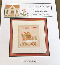 """Country Cottage Santa's Village Xmas """"Candy Cane Cottage"""" X-Stitch Chart Pack"""
