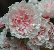 Blush Pink Open Peony Real Touch Flower Silk Bridal Bouquets Wedding Centerpiece