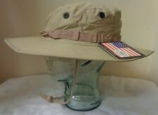 Brand New MFH USMC Style Boonie Hat Ripstop Sand Size Large