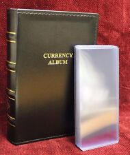 Lighthouse Currency Album Binder Modern Banknote + 20 Rigid Topload Holder Cases
