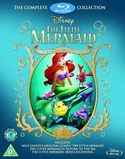 THE LITTLE MERMAID TRILOGY 3-MOVIE COLLECTION BLU-RAY BOX SET REGION-FREE NEW