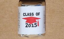 30 PERSONALIZED CLASS OF 2015 GRADUATION PARTY CANDY WRAPPERS SUPPLIES STICKER