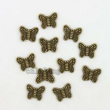 100pcs Vintage Bronze Butterfly Charms Alloy Spacer Beads FIt Jewelry Supplies C
