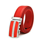 Men's red genuine leather automatic buckle leather belts for men belt pk120-T12